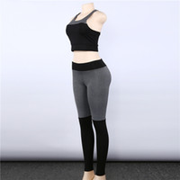 Wholesale female workout clothes online - Casual Sporting Tracksuit Women Piece Set Fitness Clothes Workout Sportswear For Female High Waist Leggings And Bra Suit