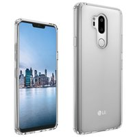 Wholesale plastic cushion covers - For LG G7 ThinQ Transparent Case Shockproof Soft TPU Bumper + Clear PC Back Cover Air Cushion Phone Fitted Cases For LG G6