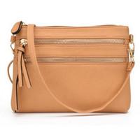 bayan küçük satchel çanta toptan satış-Moda Çok Fermuarlı Cebi Kadın Küçük Mini Omuz messenger Crossbody Çanta Bayanlar Satchel Çanta Cep Telefonu Kılıfı