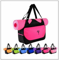 Wholesale wholesale fitness supplies - 9 Colors Multifunctional Yoga Bag Fitness Mat Yoga Backpack Waterproof Supplies Bag Yoga Mat Storage Bag CCA9364 30pcs