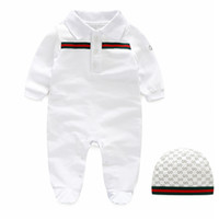Wholesale newborn baby girl clothing - Retail Baby Rompers spring and autumn Girl Clothes Newborn Baby Clothes Long Sleeve Doll Collar Infant Jumpsuits baby boy Set