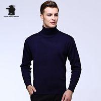 Wholesale Cowl Neck Men - New Men's Turtleneck Wool Sweater Fashion pure Color Pullover Sweater High Quality Cowl Neck Men 7 Colours C3E15728