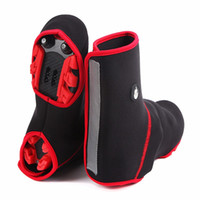 Wholesale cycling arms legs for sale - Winter Thicken Shoe Sleeve Outdoor Keep Warm Wind Proof High Gang Shoes Cover Wear Resisting Cycling Leg Warmers wf WW