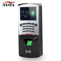 sistema biométrico de trava de impressões digitais venda por atacado-5YOA BM7 Fingerprint Senha Bloqueio da Chave de Controle de Acesso Da Máquina Biométrica Fechadura Da Porta Eletrônica Leitor RFID Sistema de Scanner