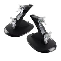 Wholesale ps4 charging resale online - 2018 LED Dual Charger Dock Mount USB Charging Stand For PlayStation PS4 Xbox One Gaming Wireless Controller With Retail Box