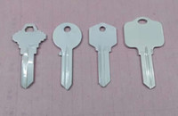 leere autoschlüssel großhandel-Sortierte weiße gemalte Haus-leere Schlüssel bereit zum Hitzepressesublimationsdrucken irgendeines kundenspezifischen Bildes als Geschenkartikel