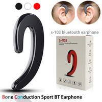 crochet de micro achat en gros de-E1 crochet d'oreille oreillette bluetooth conduction osseuse sport BT écouteur avec micro pour pour xiaomi iPhone6 / 7 / 8s / x Samsung Huawei