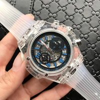 Wholesale skeleton dresses - 2018 New Luxury brand AAA Mens Automatic Mechanical Movement men Watch Sports mens Watches skeleton men dress watch