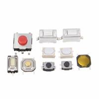 ingrosso microinterruttori remoti-Nuovo pulsante tattile di alta qualità 250Pcs 10 tipi di telecomando per microinterruttore TV, apparecchiature audio, interruttore VCR