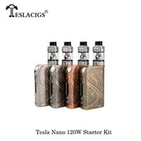ingrosso best vw box mod-Sigarette elettroniche Tesla Nano 120 W VW APV Box Mod kit ARROW RDTA Serbatoio best Mechanical Mod Vape Vaporizzatore
