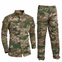 camouflage anzüge kampf großhandel-Militäruniform Hemd + Hosen Militär Armee Anzug Dicke Baumwolle Camouflage Anzüge Python Feld Camouflage Uniformen CS Feld