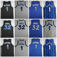 Wholesale best basketball shirts - Best Quality 32 Shaquille O Neal 1 Penny Hardaway 1 Tracy McGrady Stitched College Basketball Jerseys Mens Shaquille O'Neal Basketball Shirt