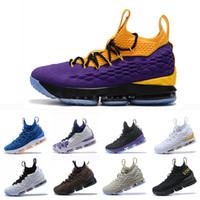official photos b78f0 17a08 Lebron james 15 Neueste James Purple Rain Asche Geist 15 CAVS Männer Basketball  Schuhe 15 s Gleichheit Herren XV Casual Trainer Sport Turnschuhe 40-46