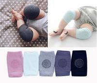 Wholesale kids raglan wholesale - Baby Knee Pads Toddler Crawling Ankle Socks Safety Protector Kneecaps Summer Non Slip Kneepad Leg Cover Baby Socks Kids Raglan Sleeves HK201