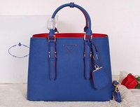 Wholesale fashion hardware for sale - Group buy 1BG820 Double Adjustable Handles Saffiano Leather Totes Nappa Lining Metal Lettering Logo Steel Hardware with Dust Bag