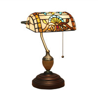 Wholesale beds china online - Bedside table lamp European style retro old Shanghai Republic of China retro bank lights new creative American desk