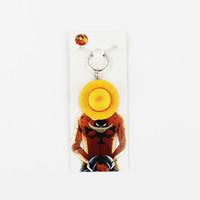 llavero de una pieza de anime al por mayor-4.5cm Anime One piece Luffy sombrero de paja llaveros PVC colgante llavero juguetes para niños regalos