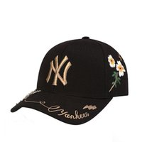 Wholesale ny wholesalers - Embroidery Bee Daisies NY Style Hat Men Women Fashion Sunshade Cap Sweat Absorb Comfortable Baseball Sports Caps 11 3hd Z