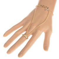 Wholesale slave bracelet jewelry for sale - 10pcs Hand Slave Chain LOVE Element Harness Bracelet Jewelry For Women Gold Color Bracelets Finger Circle Chain Pulseira