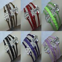 ingrosso bracciali in pelle di caviglia-Braccialetto di cuoio dei braccialetti del braccialetto della caviglia delle donne per le donne AW-1007 degli uomini