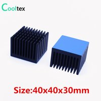 Wholesale electronic processors for sale - Group buy 2pcs x40x30mm Aluminum Heatsink Radiator Heat Sink Cooling For Electronic Chip LED With Thermal Conductive double sided Tape