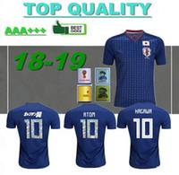 jerseys de fútbol de equipo para al por mayor-tipos de dibujos animados números 2018 camiseta de fútbol de Japón 10 ATOM copa del mundo Tsubasa KAGAWA ENDO OKAZAKI NAGATOMO HASEBE equipo nacional Camiseta de fútbol