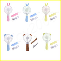 Wholesale plastic folding fans - Summer Portable Folding Fan USB Charging Cool Removable Rotating Handheld Mini Outdoor Fans Pocket Folding Hand mini Fan Cooler with Strap