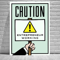 Wholesale monopoly art online - Alec Monopoly CAUTION Home Decor HD Printed Modern Art Painting on Canvas Unframed Framed