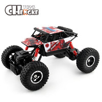 Wholesale rock crawlers - 2.4G 4WD RC Rock Driving Crawlers Remote Control Car Double Motors Drive Bigfoot Rock Car Model Off-Road Vehicle Toy
