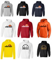 Wholesale mens beige hoodie - Ellesse Mens Classic Prado Print Logo Hoodies fashion brand Top sweatshirts Optic 100% Cotton Print Mens Summer Animal