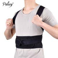 ingrosso uomini di correzione posteriore-Palicy Posteriore Brace Postura Correttore Schiena Supporto Cintura Regolabile Adulto Corsetto Terapia Spalla Lombare Brace Per Uomo Donna S-XXL