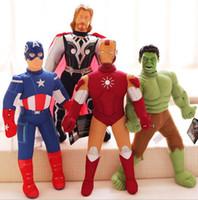 Wholesale spiderman stuff toys for sale - Group buy 40cm Avengers Spiderman Iron Man Captain America Superman Stuffed Plush Toys Doll for Kids Children OOA5015