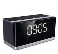 radio pistola al por mayor-DY27 premium bluetooth inalámbrico reloj despertador caja de sonido computadora sala de estar bajo tono pistola radio