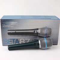 Wholesale Microfono Professional Beta87 Wired Handheld Vocal Dynamic Karaoke Microphone For Beta C BETA87A BETA A Mic Microfone