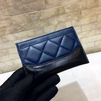 Wholesale black white check fabric - Quality Women's Fashion Wandering Wallets Genuine Leather sheepskinCard Holder Mini Bag Wallets 2018 Female Coin Pouch Purse With Box
