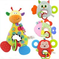 anneau de dentition de singe achat en gros de-Mignonne girafe singe animal poupée en peluche jouet en peluche nouveau-né bébé enfants jouet de dentition pour bébé jouet en peluche bébé cadeau d'anniversaire