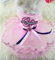 Wholesale big dog shoes resale online - Puppy Dress Below Dog Skirt Diaper Summer Wedding Yellow Chihuahua Wholesaling Dog Shirts Size for Small Dogs Big Brother