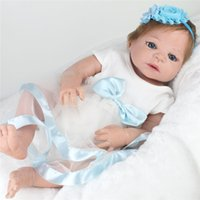 DOLL 55 CM 22 pulgadas Reborn Babies Dolls Full Vinyl Realistic Baby Toys para Niñas Alive Baby Doll Kids Playmate Children's Christmas Gift