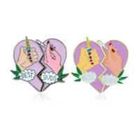 ingrosso migliori spille-New Best Buds Spilla Wedding Arch Vintage Due petali Love Lega Broth Abbigliamento Decorare Accessori Vendita calda 3hy Ww