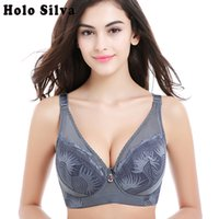 3a81c4605 Sexy Women D E F Cup Embroidery Push up Bra for Big Size 44 46 48 Size  Women Large Full Cup Bras Brassiere sostenes mujer grande