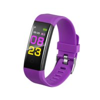 Wholesale date female resale online - 115 plus Men Smart Wristband Sports Date Calories Pedometer Sleep Monitor Women Smart Wristband Call Reminder for Android IOS