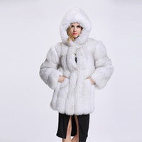 41dc73e8fab5c 2018 Cheap Long Fur Coat With Hooded Winter Sleeves Fashion Women Faux Fox  Fur Coats Furry Woman Fake Fur Jacket Plus Size Coat MM9786