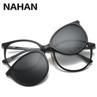 2aa06d897c Frauen Männer Polarisierte Magnetische Clip Brille Männlichen Fahr Clip Auf  Sonnenbrille Rezept Magnet Myopie Brillengestell Mit Fall
