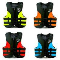 chaqueta de kayak al por mayor-Navegación Drifting Beach Swim Kayak Salvavidas Flotabilidad Chaleco salvavidas Chaleco XS S M