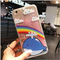 Wholesale i phones for sale - hot sale South Korea relief flamingo flash powder quicksand i mobile phone shell S plus liquid personality protective sleeve