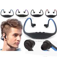fone de ouvido fones de ouvido venda por atacado-Fone de ouvido Bluetooth S9 Estéreo Sem Fio fone de Ouvido Bluetooth Speaker Neckband Bluetooth 4.0 Com Pacote de Varejo Com Caixa de Varejo