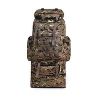 Wholesale quality tactical backpack - 90L Large capacity outdoor mountaineering camping trip backpacks, games Tactical backpack high quality waterproof and camouflage backpack.