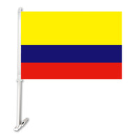 "Wholesale car side windows - Digital printing 100D polyester double side 12""x18"" colombia car window flags with 51cm plastic flagpole custom car flags"