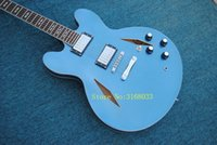 Wholesale cheap quality string guitars online - 2018 Top quality Dave Grohl Metallic Blue Electric Guitar sales promotion cheap guitar