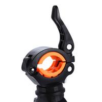 einstellbare lichtklemme großhandel-Großhandel 360 ° Rotation Einstellbare Fahrrad Frontlampe Halterung Taschenlampe Halter Light Mount Clamp Clip Hohe Qualität Und Heißer Verkauf